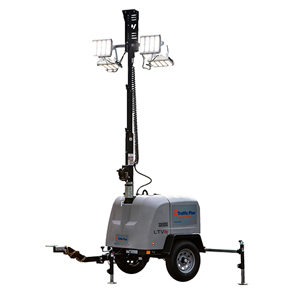 Light tower rentals for work zone traffic control