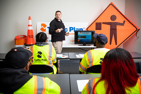 Traffic control employee safety training