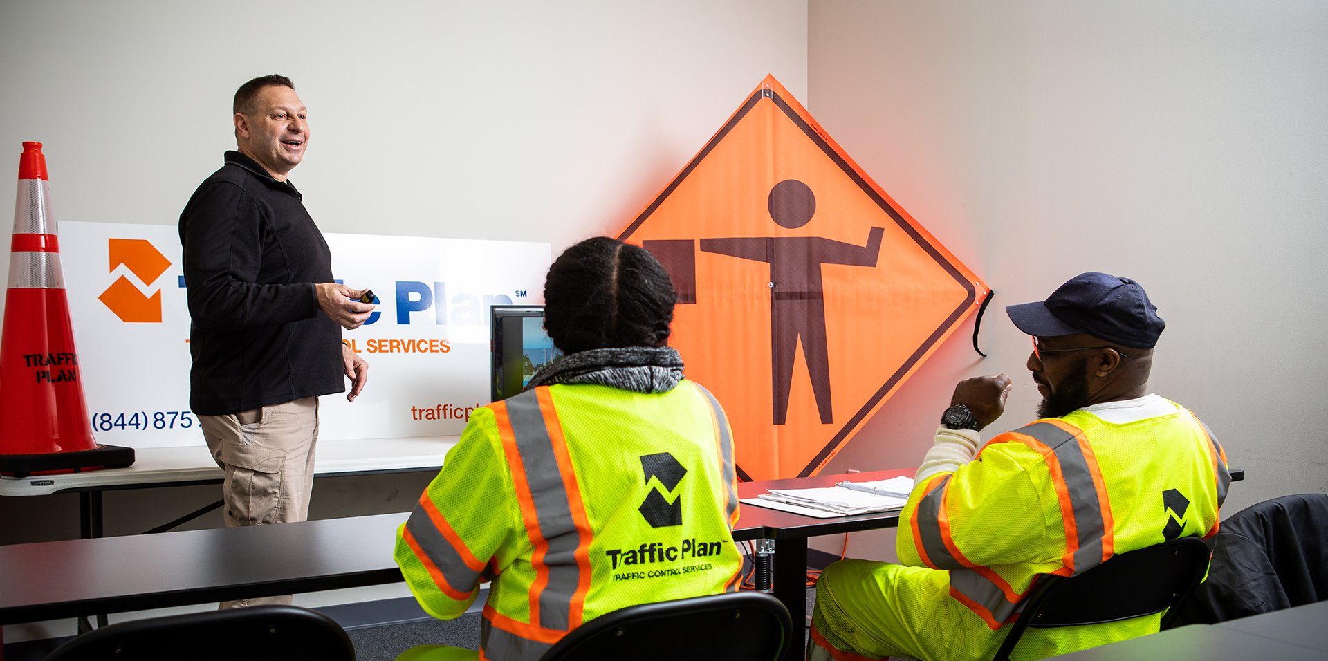 Trained traffic control specialists